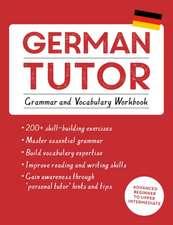 German Tutor:  Grammar and Vocabulary Workbook