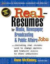Real-Resumes for Media, Newspaper, Broadcasting & Public Affairs Jobs...