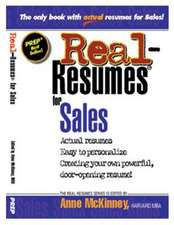 Real-Resumes for Sales