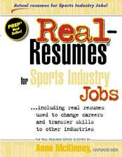 Real-Resumes for Sports Industry Jobs