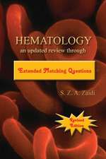 Hematology:  An Updated Review Through Extended Matching Questions