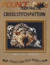 Pounce Tiger Fractal Cross Stitch Pattern