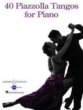 40 Piazzolla Tangos for Piano:  Texas Edition 2015 Book with Online Audio