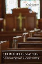 Church Usher's Manual