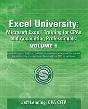 Excel University Volume 1 - Featuring Excel 2013 for Windows