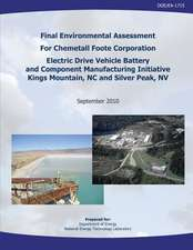Final Environmental Assessment for Chemetall Foote Corporation Electric Drive Vehicle Battery and Component Manufacturing Initiative, Kings Mountain,