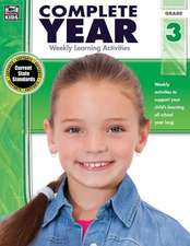 Complete Year, Grade 3:  Weekly Learning Activities