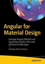 Angular for Material Design
