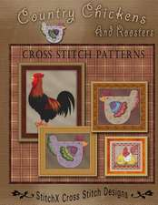 Country Chickens and Roosters Cross Stitch Patterns