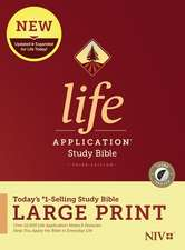 NIV Life Application Study Bible, Third Edition, Large Print (Hardcover, Indexed)