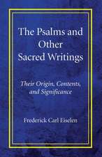 The Psalms and Other Sacred Writings