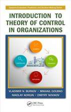 Introduction to Theory of Control in Organizations