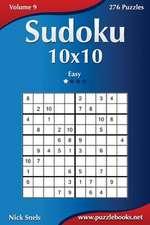 Sudoku 10x10 - Easy - Volume 9 - 276 Puzzles