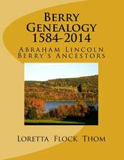 Berry Genealogy 1584-2014