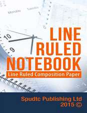Line Ruled Notebook