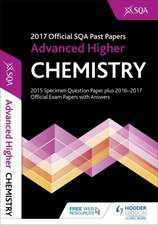 Advanced Higher Chemistry 2017-18 SQA Past Papers with Answers