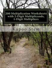 200 Multiplication Worksheets with 2-Digit Multiplicands, 1-Digit Multipliers