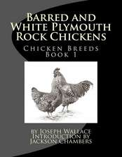 Barred and White Plymouth Rock Chickens