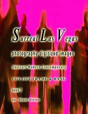 Surreal Las Vegas Photography Digitized Images Abstract Modern Contemporary Cut-Out Frame & Hang Book 1