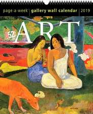 Art Page-A-Week Gallery Wall Calendar 2019