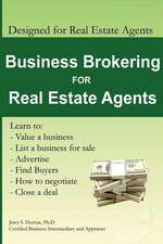 Business Brokering for Real Estate Agents