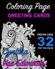 Coloring Page Greeting Cards - Color, Cut, Fold & Send!