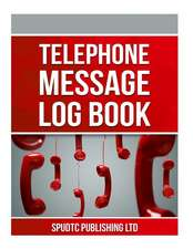 Telephone Message Log Book