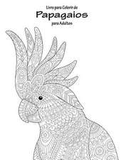 Livro Para Colorir de Papagaios Para Adultos 1
