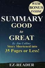 Summary - Good to Great