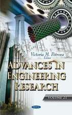 Advances in Engineering Research. Volume 21