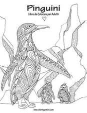 Pinguini Libro Da Colorare Per Adulti 1