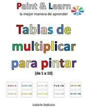 Tablas de Multiplicar Para Pintar (de 1 a 10)