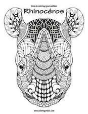 Livre de Coloriage Pour Adultes Rhinoceros 1