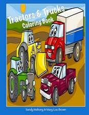 Tractors & Trucks Coloring Book