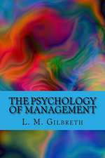 The Psychology of Management