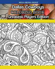 Dallas Cowboys Greatest Players Coloring Book