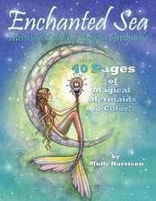 Enchanted Sea - Meramaid Coloring Book in Grayscale - Coloring Book for Grownups