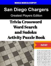 San Diego Chargers Trivia Crossword, Wordsearch and Sudoku Activity Puzzle Book