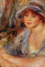 150 Page Lined Journal Andree in Blue, 1917 Pierre Auguste Renoir
