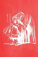 Alice in Wonderland Pastel Chalkboard Journal - Alice and the Secret Door (Red)