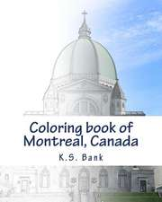 Coloring Book of Montreal, Canada