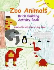 Zoo Animals - Brick Building Activity Book