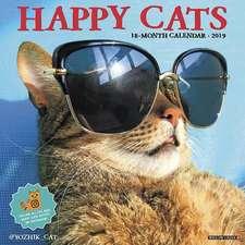 2019 Happy Cats Wall Calendar