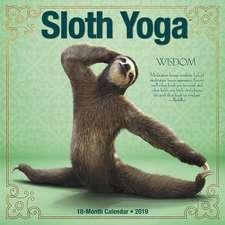 2019 Sloth Yoga Wall Calendar