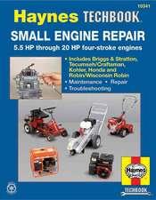 Small Engine Repair:  5.5 HP Thru 20 HP Four Stroke Engines