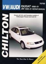 VW Passat & Audi A4:  VW Passat, 1998 Thru 2005 and Audi A4, 1996 Thru 2001