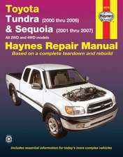 Toyota Tundra (2000 Thru 2006) & Sequoia (2000-2007):  All 2wd and 4WD Models