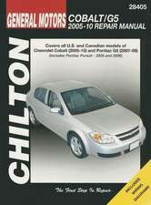 Chilton Total Car Care GM:  Chevrolet Cobalt, 2005-10 & Pontiac G5, 2007-09 & Pursuit 2005-2006 Repair Manual