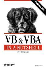 VB & VBA in a Nutshell – The Languages