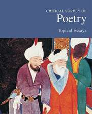 Critical Survey of Poetry:  Print Purchase Includes Free Online Access
